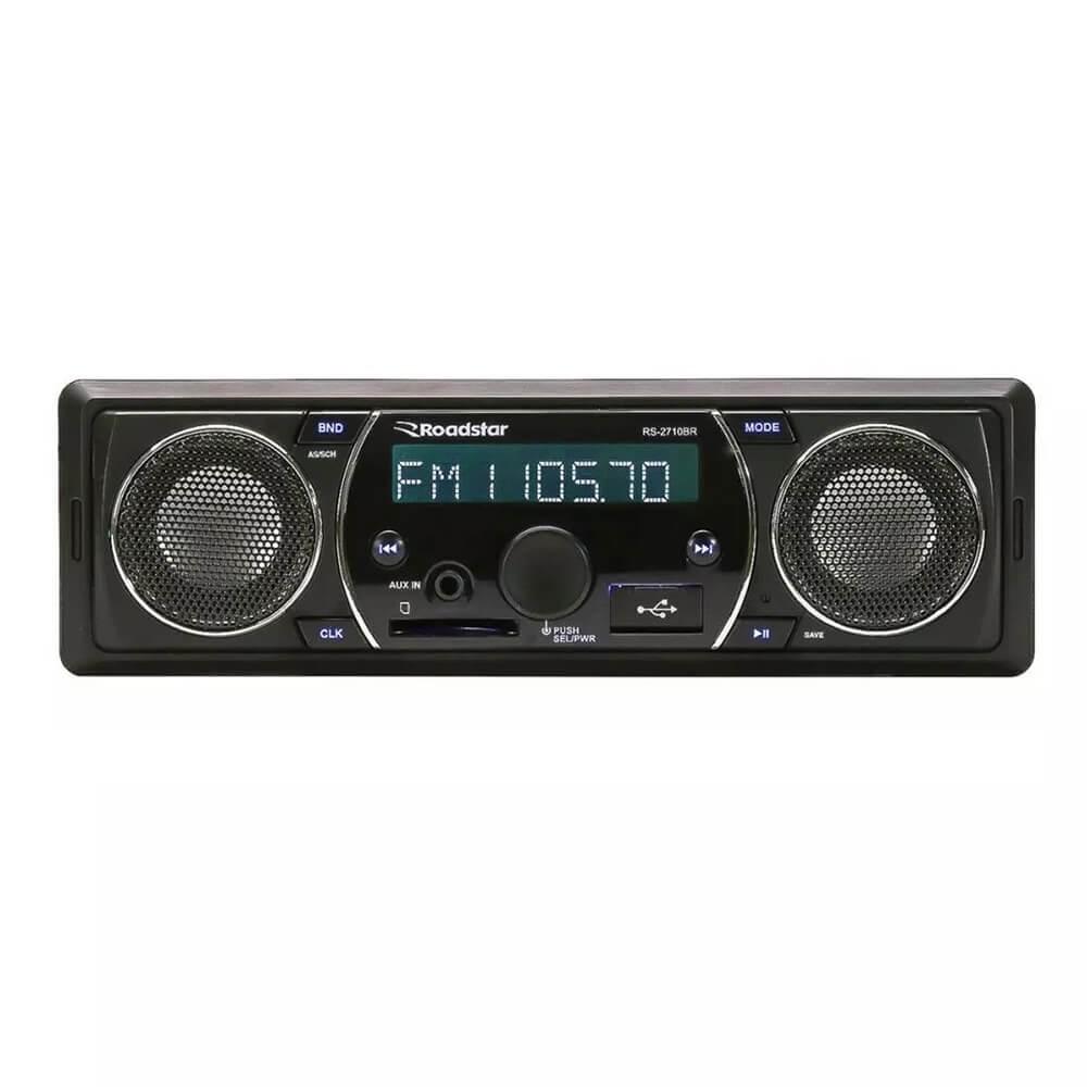 MP3 ROADSTAR RS2710BR COM ALTO FALANTES EMBUTIDOS SD USB FM