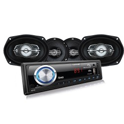 KIT AUTOMOTIVO MULTILASER MP3 + PAR FALANTES 6' E 6X9' AU952