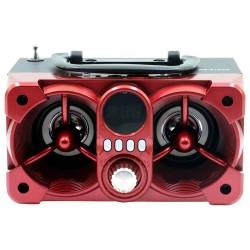 CAIXA SOM ROADSTAR RS612CX VERMELHO 12W RMS BLUETOOTH AUX FM CONTROLE REMOTO