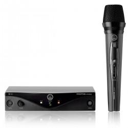 MICROFONE VOCAL DINAMICO SEM FIO UHF 5 FREQUENCIA PW VSET BL45 VOCAL AKG BANDA A  28950240